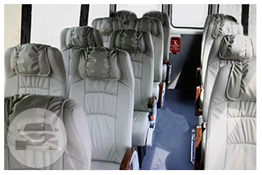 White Mini Bus 24-28 Passenger Coach Bus / Kowloon City District, Hong Kong   / Hourly HKD 350.00  / Airport Transfer HKD 1,200.00