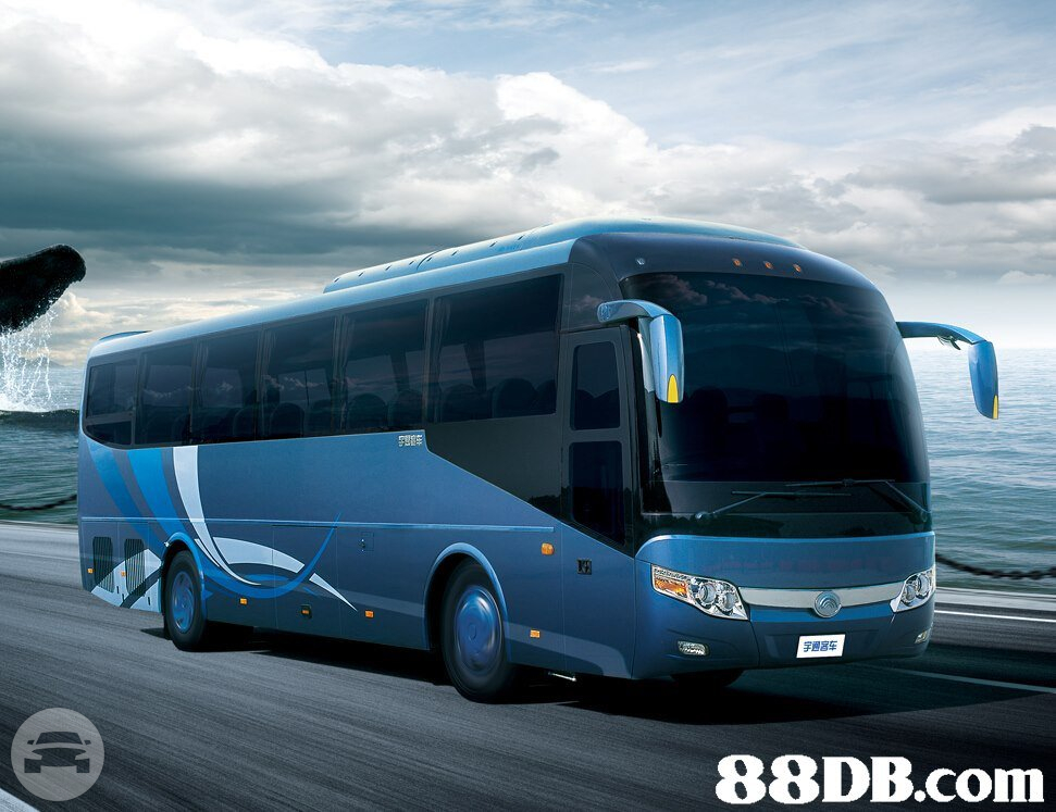 28-66 Seat Coaches - Light Blue Coach Bus  / Kowloon, Hong Kong   / Hourly HKD 0.00